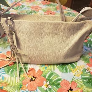 Authentic Coach Creamy Ivory Leather Ashely Hobo